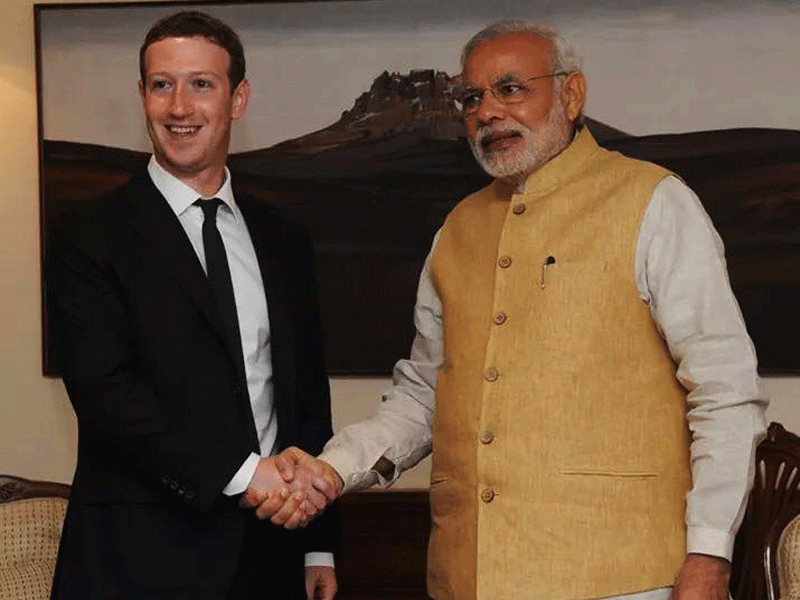 ZUCKERBERG MEETS MODI