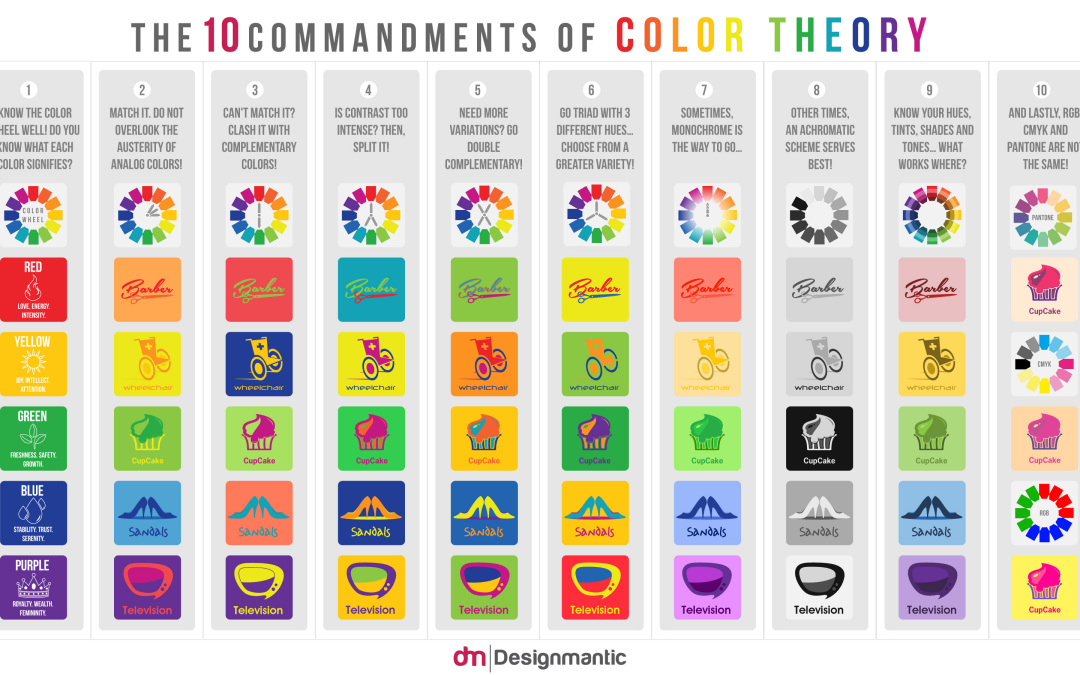 Color Theory Commandments Social Media